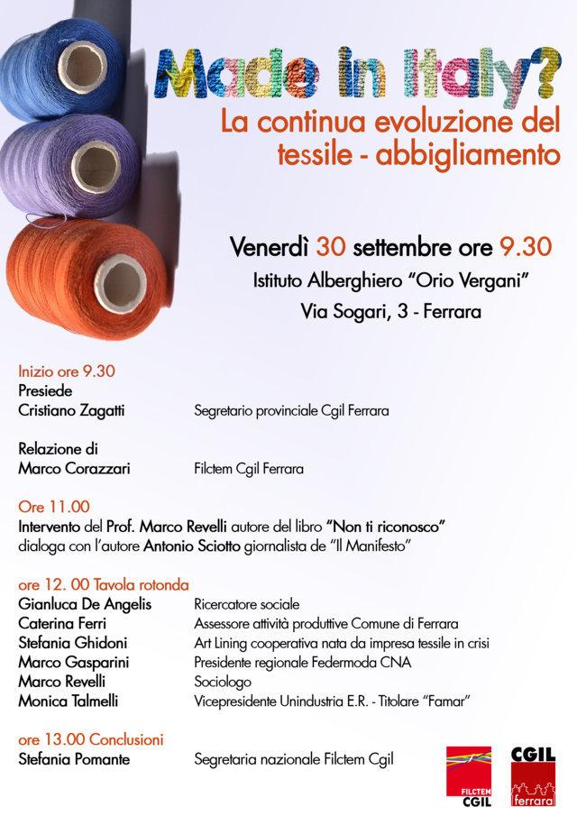 Made in Italy? La continua evoluzione del tessile abbigliamento