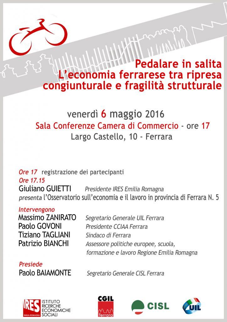 Locandina iniziativa presentazione osservatorio 6 maggio