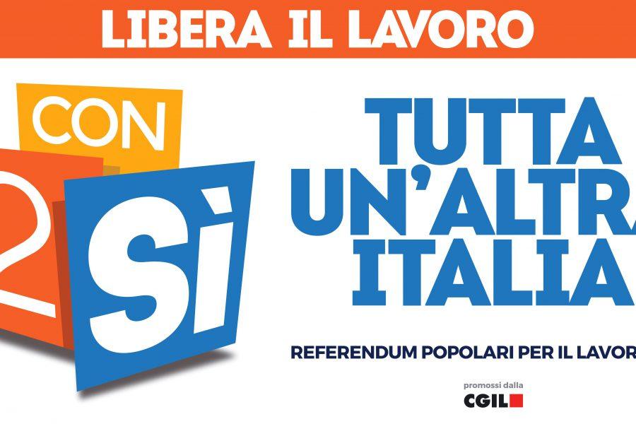Libera il lavoro con 2 sì: referendum popolari per il lavoro 2017