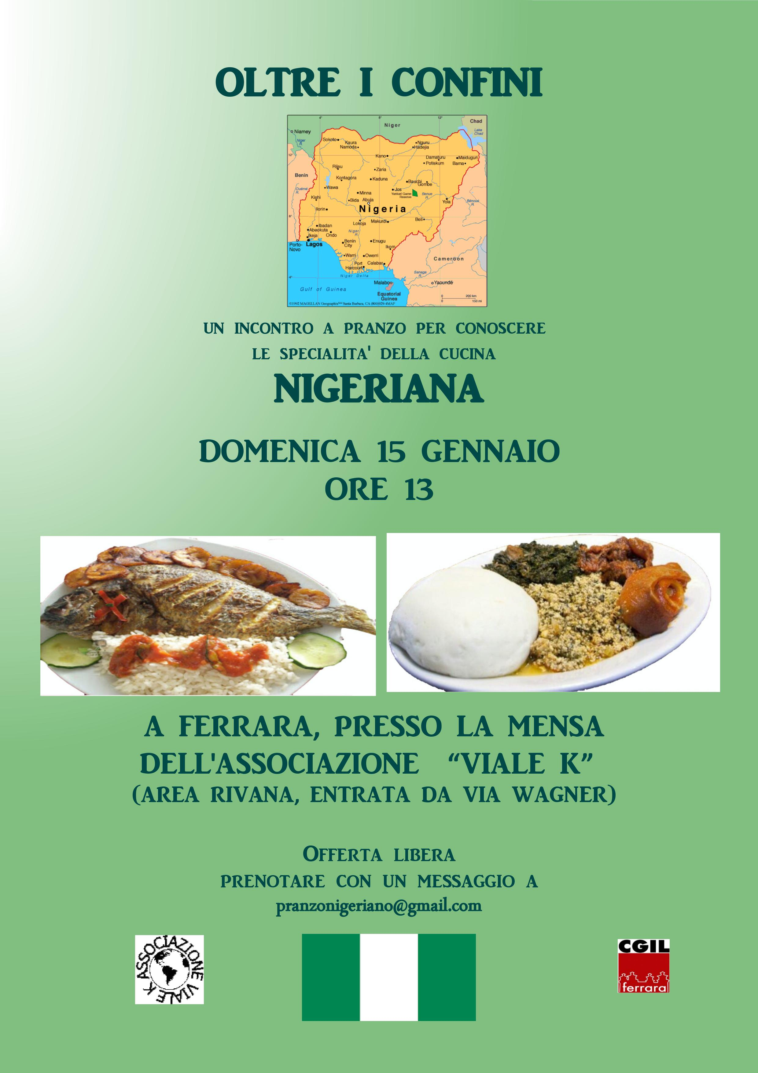 Oltre i confini: pranzo con specialità nigeriane
