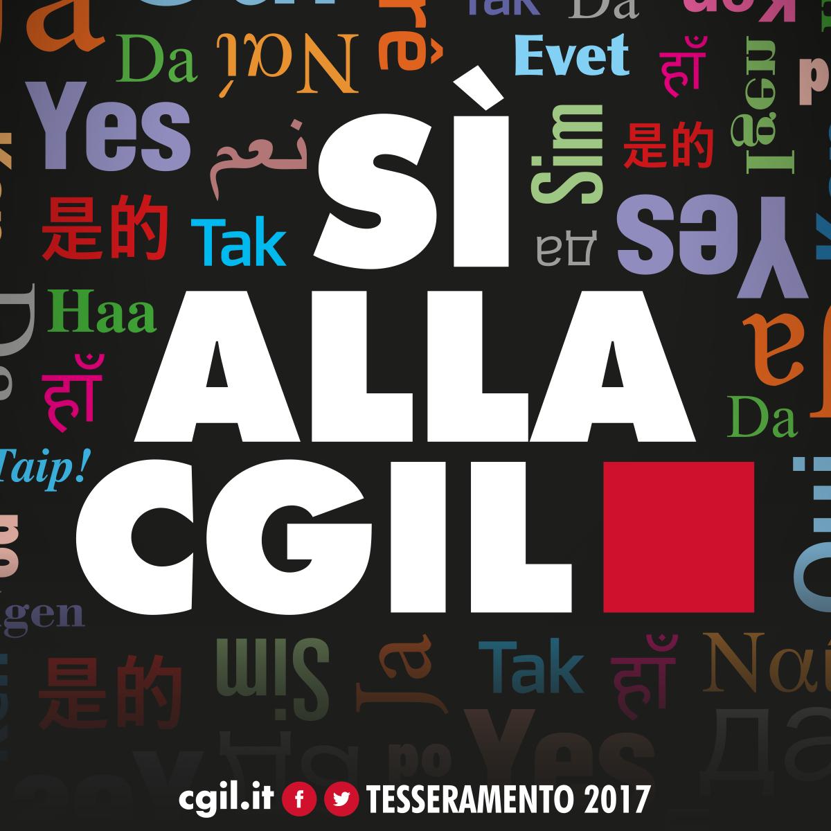 Sì alla CGIL: tesseramento 2017