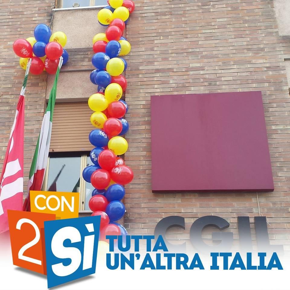#ReferendumLavoro partiti a Ferrara all'insegna dei diritti