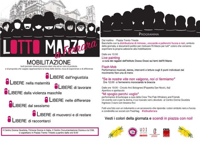 #LottomarzoaFerrara: programma e manifesto