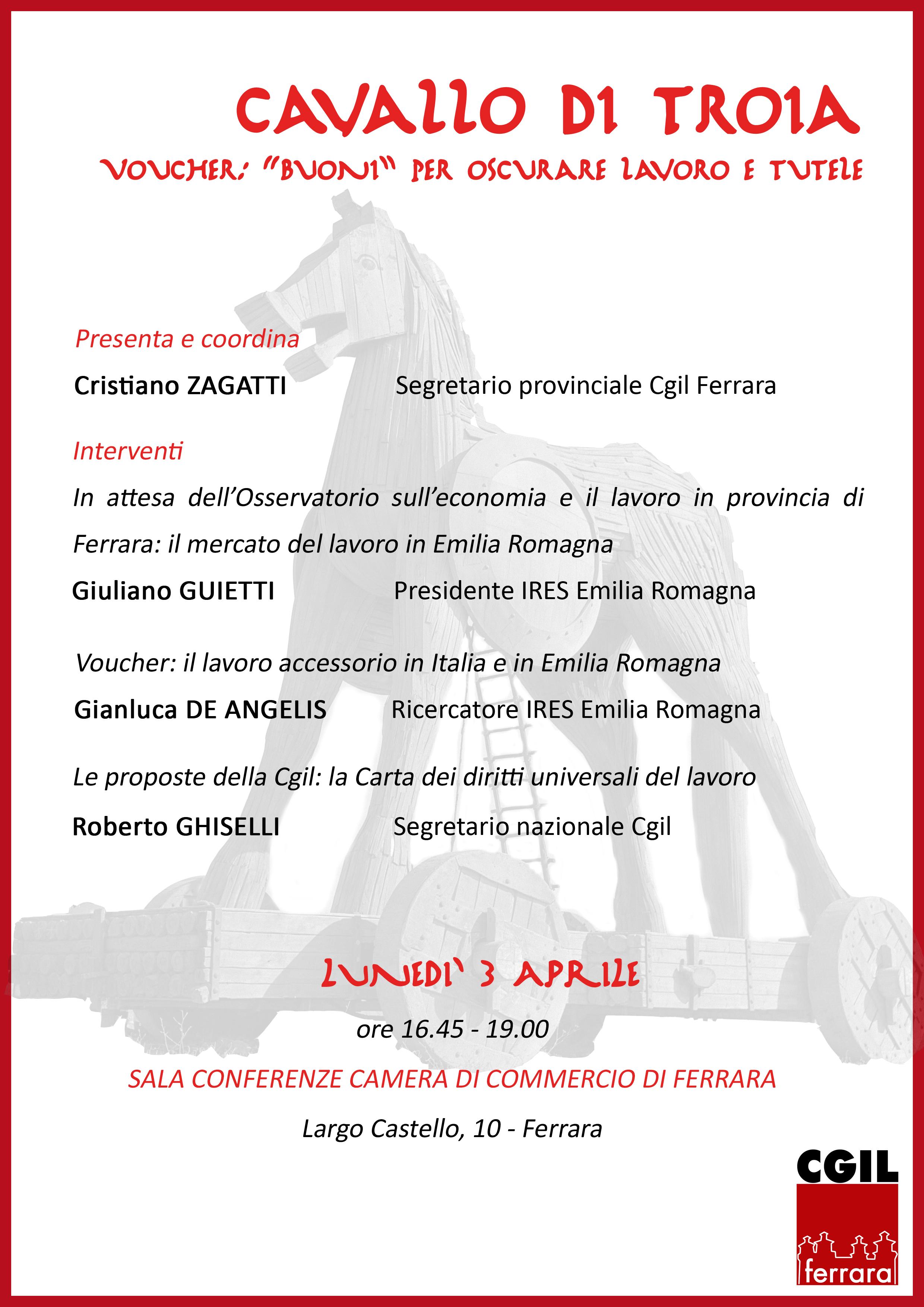 Lunedì 3 aprile a Ferrara giornata interamente dedicata a #referendumlavoro