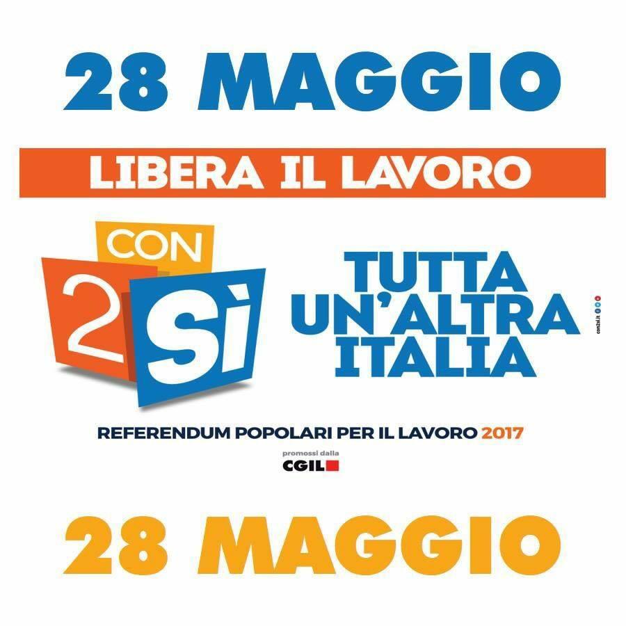 Domenica 28 maggio tutti a votare SI' su voucher e appalti