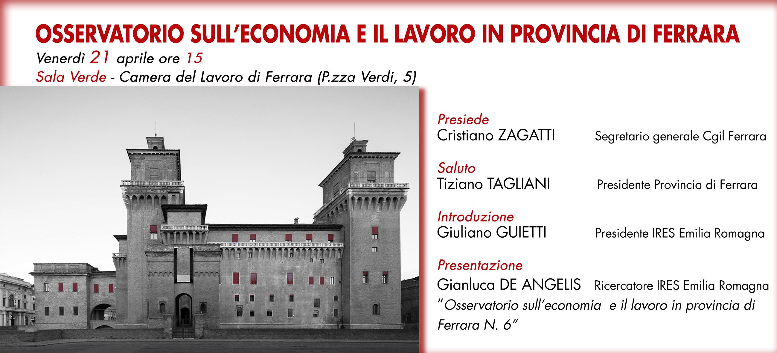 Osservatorio sull'economia e il lavoro in provincia di Ferrara N.6