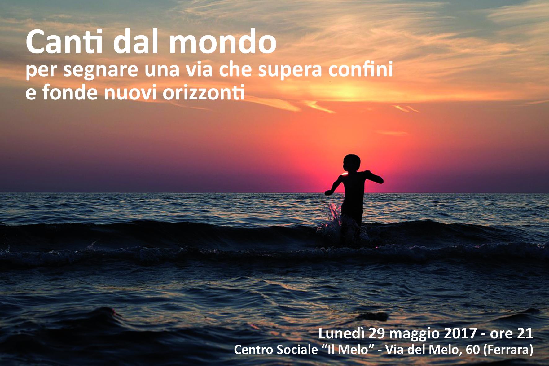 """Festival dei Diritti di Ferrara: """"Canti dal mondo"""" lunedì 29 maggio alle ore 21"""
