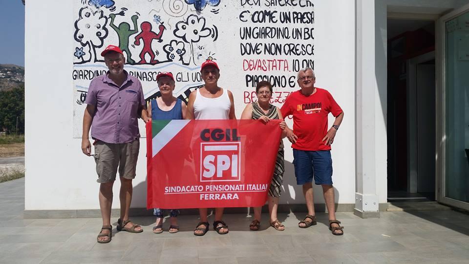 LEGALITA': l'impegno dello Spi Cgil di Ferrara nei campi confiscati alle mafie