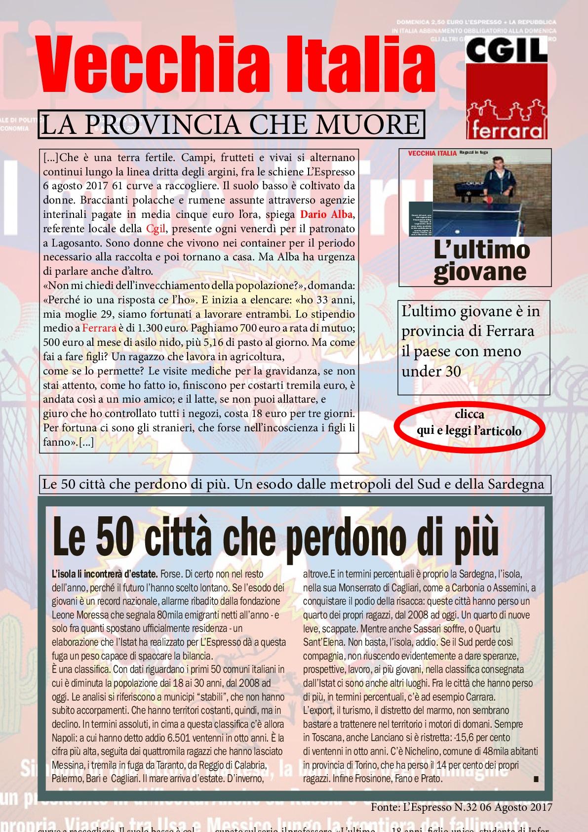 Vecchia Italia: la provincia che muore
