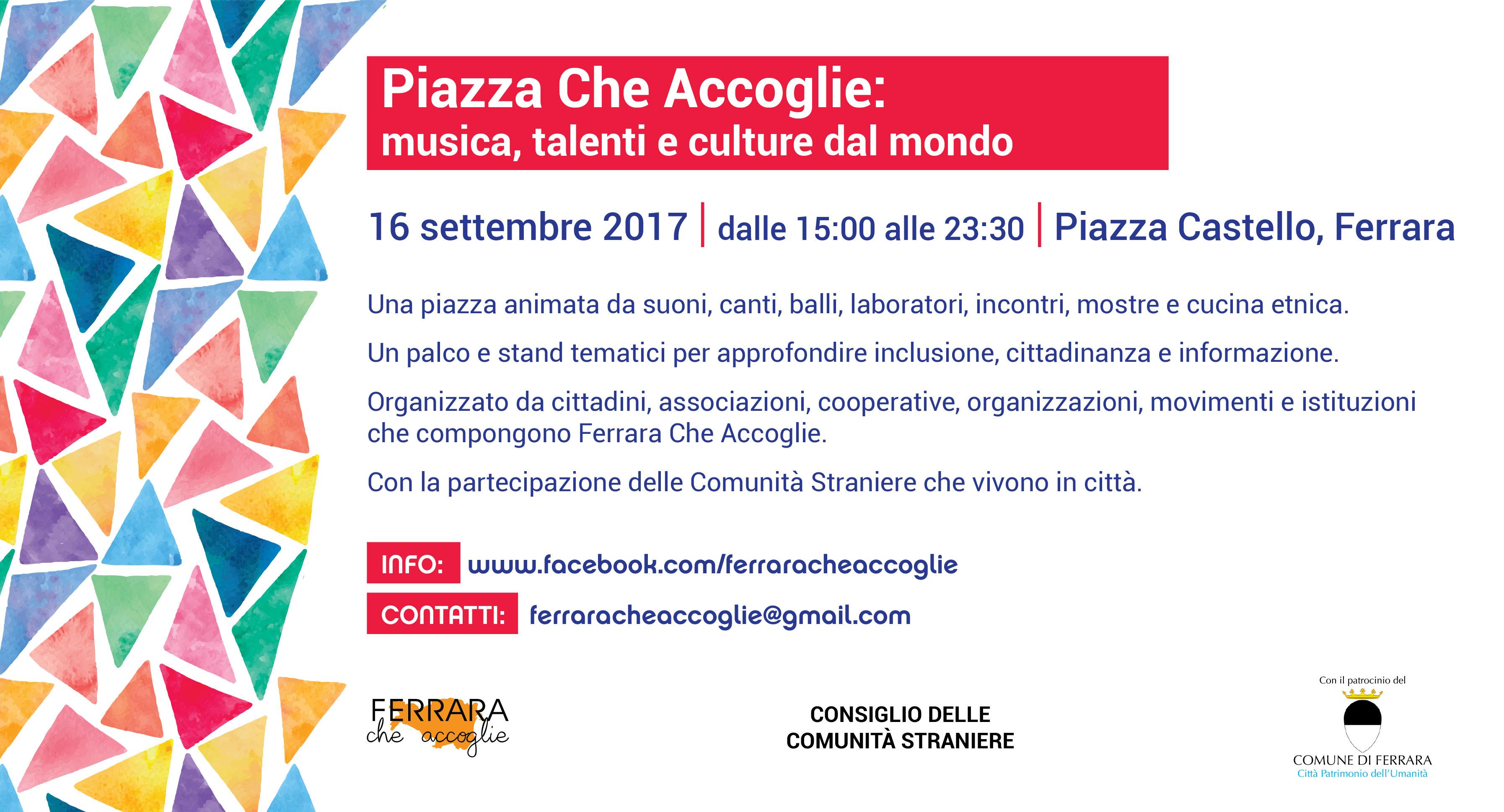 Piazza che accoglie: musiche, talenti e culture dal mondo