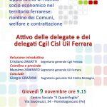 Attivo unitario delle delegate e dei delegati Cgil Cisl Uil
