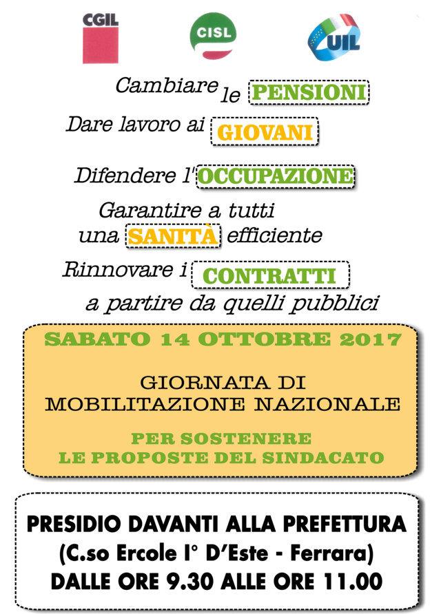 Presidio davanti alla Prefettura di Ferrara sabato 14 ottobre ore 9.30