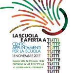 """Presidio a Ferrara """"La scuola è aperta a tutti e a tutte"""" sabato 18 novembre"""