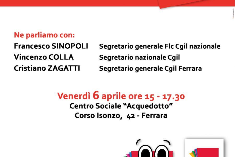 Lavoro, democrazia, rappresentanza: un incontro aperto della FLC CGIL di Ferrara