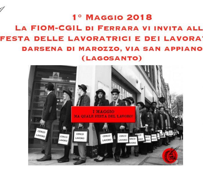 Primo maggio Fiom Cgil Ferrara a Darsena di Marozzo (Lagosanto)