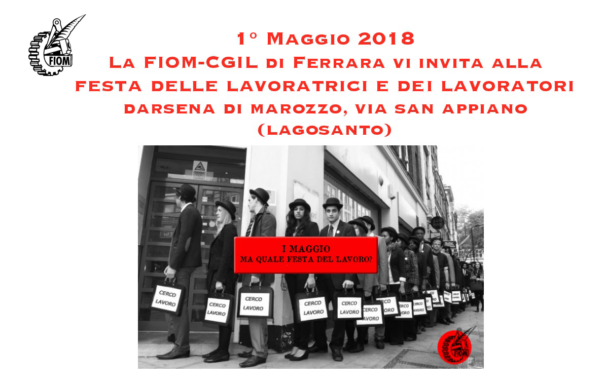 Primo maggio Fiom Cgil Ferrara a Darsena di Marozzo (Lagosanto)