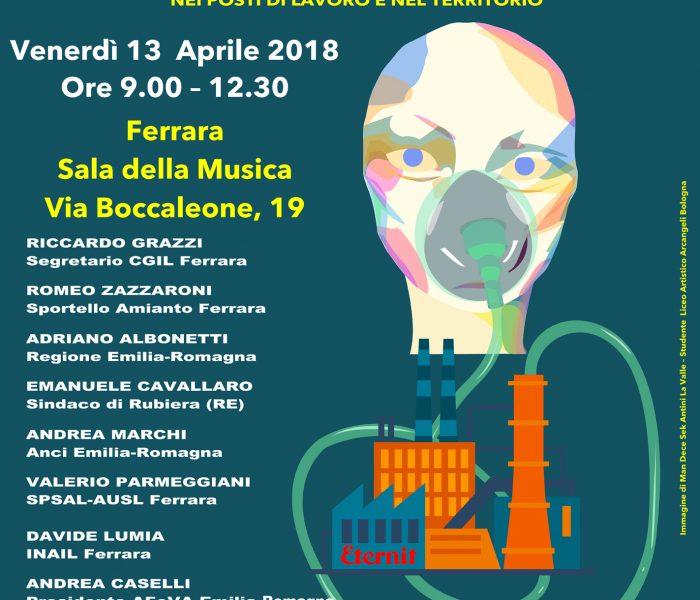 Ferrara senza amianto: convegno pubblicato organizzato da Afeva e Cgil Ferrara