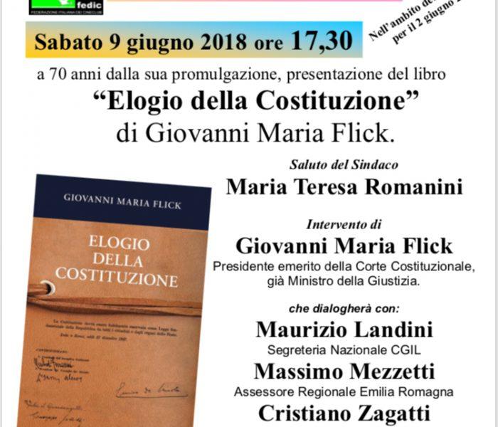 Elogio della Costituzione: sabato 9 giugno presentazione del libro di Flick
