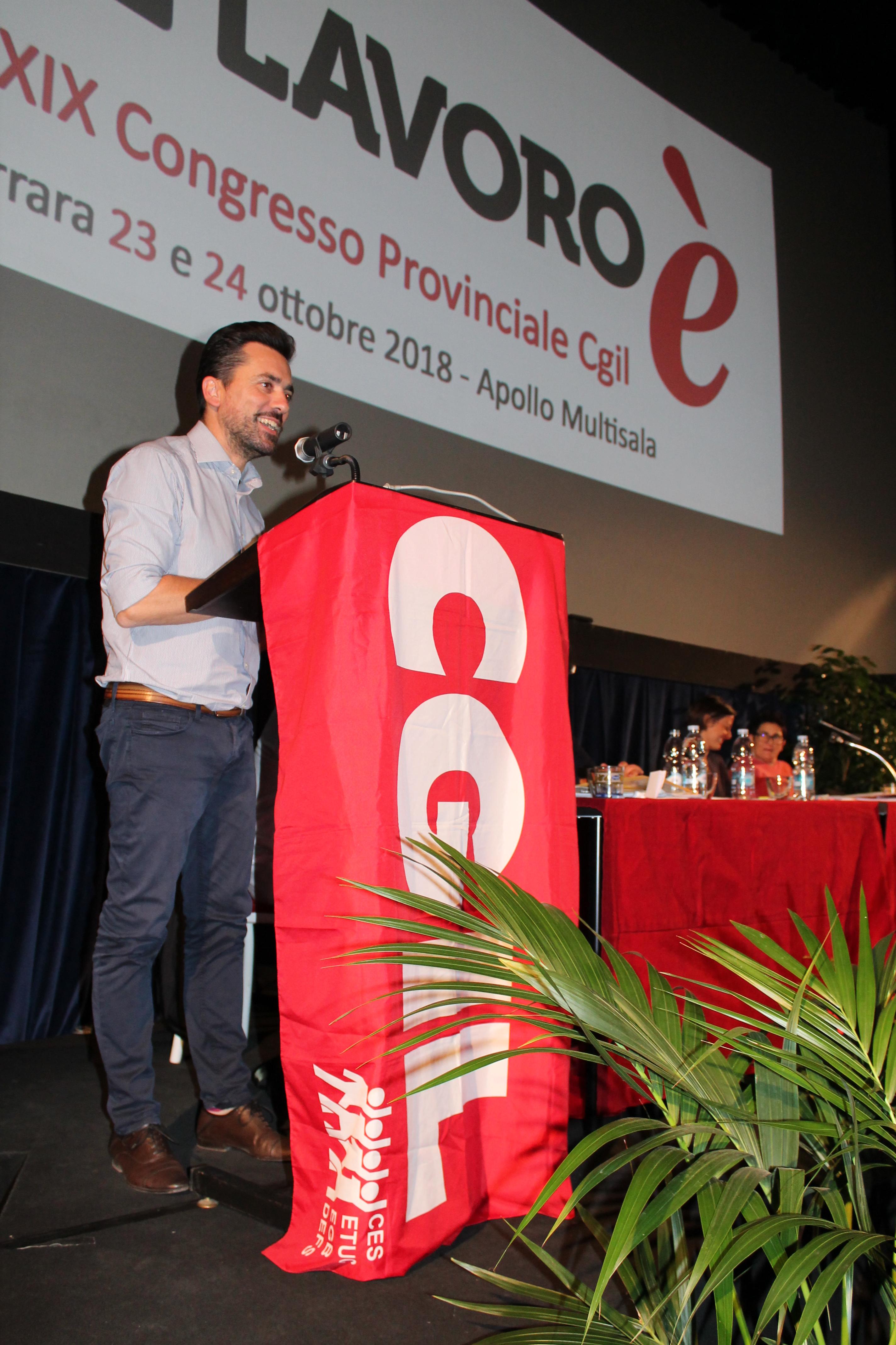Cristiano Zagatti confermato segretario generale della Cgil di Ferrara