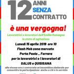 12 anni senza contratto: flash mob per la sanità privata a Ferrara lunedì 15 aprile