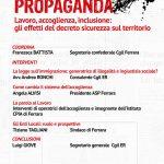 Oltre la propaganda. Iniziativa pubblica Cgil Ferrara sabato 13 aprile ore 10