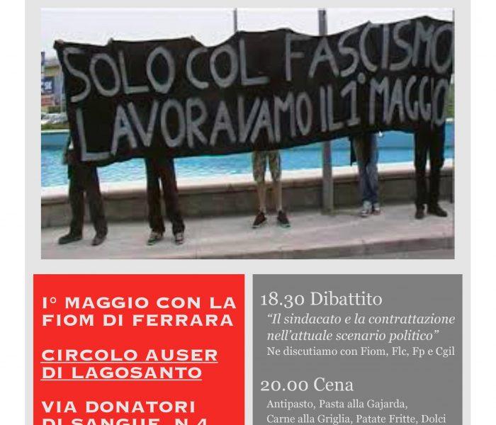 Primo Maggio: iniziativa Fiom Cgil a Lagosanto
