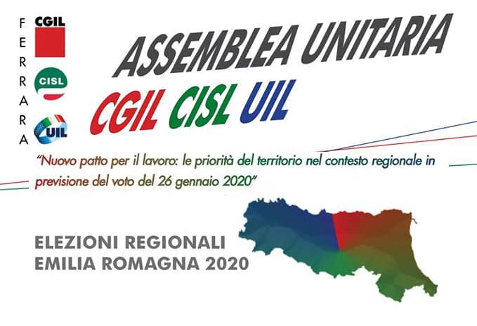 Nuovo Patto per il Lavoro: le priorità del territorio nel contesto regionale in previsione del voto del 26 gennaio 2020