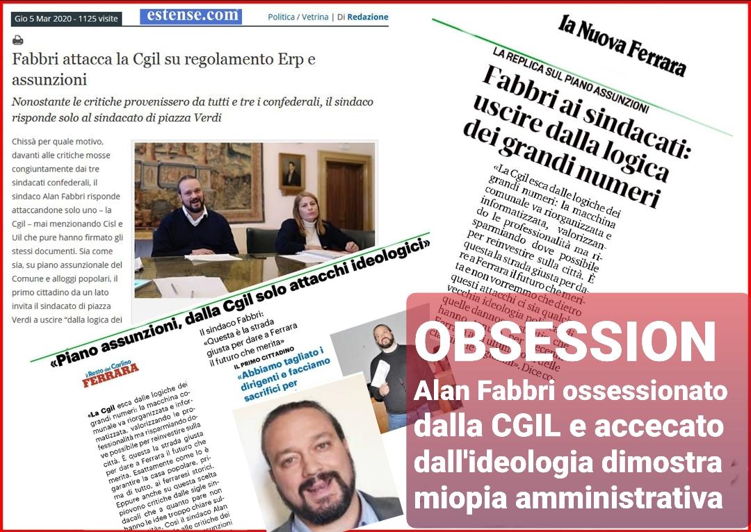 Il Sindaco Alan Fabbri ossessionato dalla Cgil