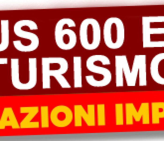 Bonus di 600 euro per i lavoratori del turismo