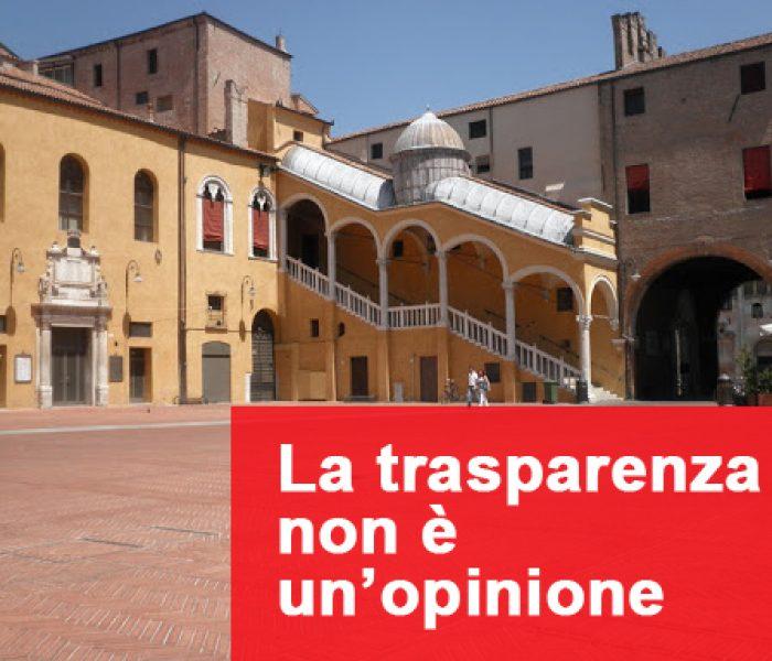 La trasparenza non è un'opinione