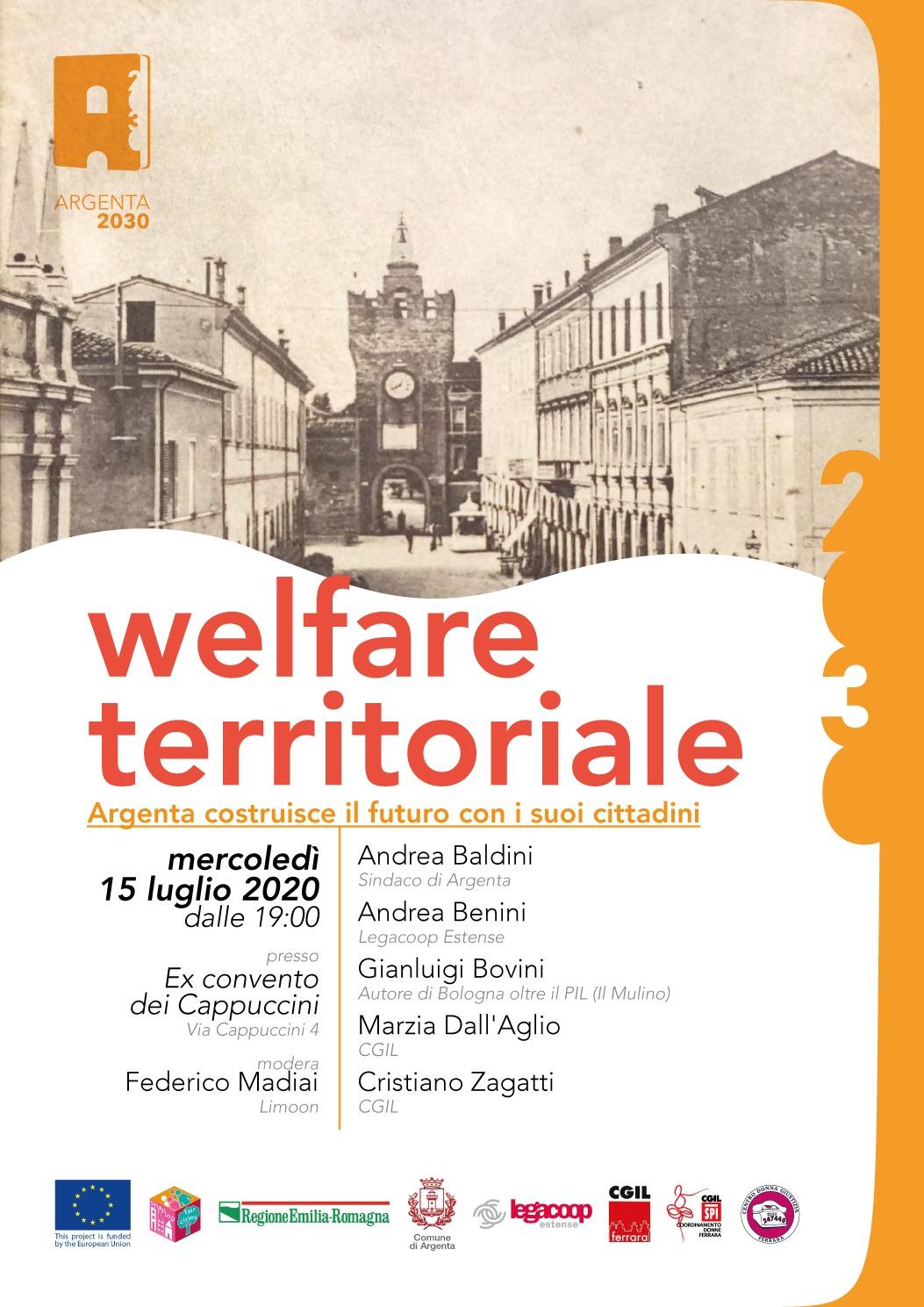 Welfare territoriale: iniziativa mercoledì 15 luglio ad Argenta