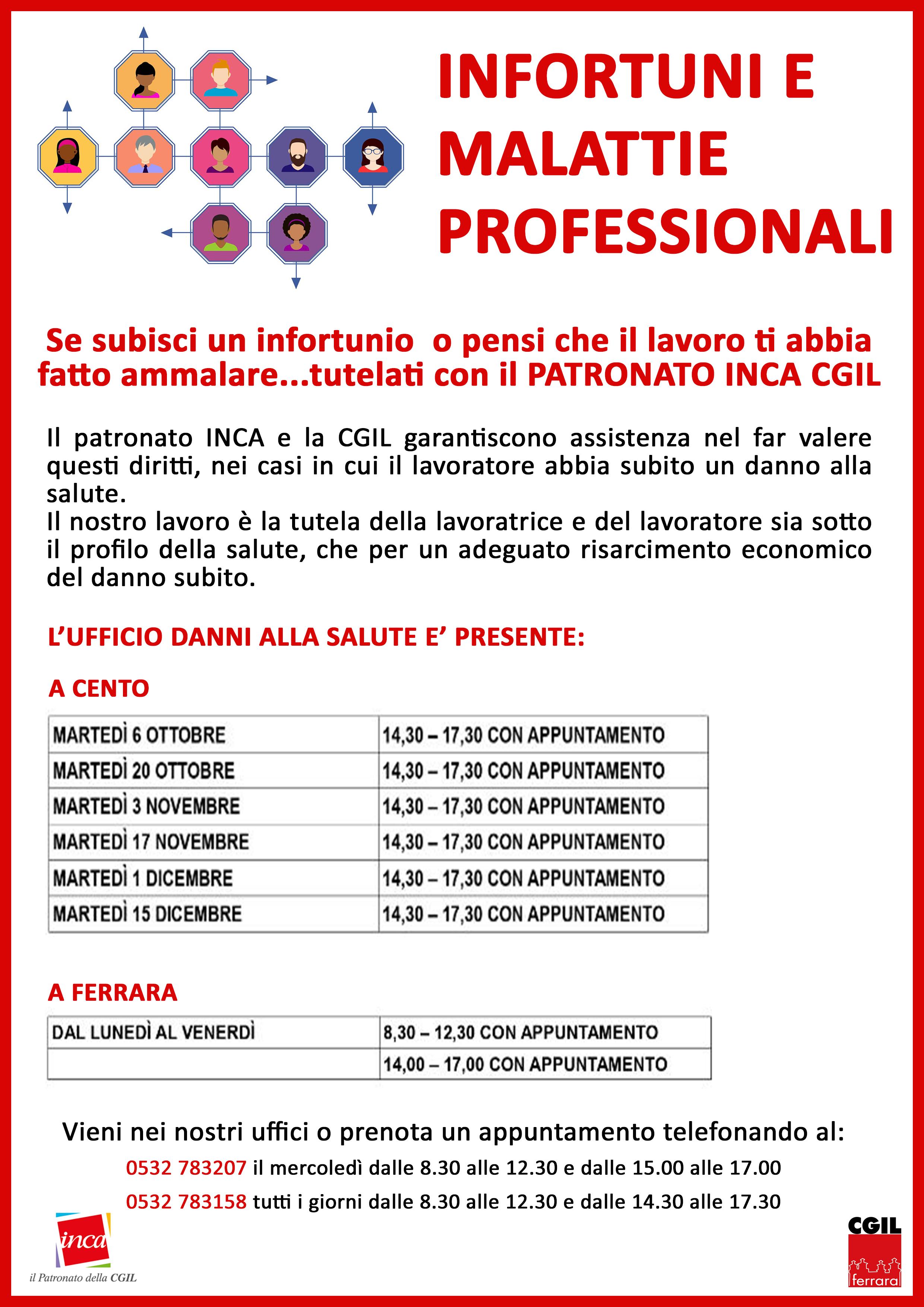Infortuni e malattie professionali: tutelati con il Patronato Inca Cgil