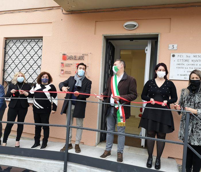 Inaugurata la nuova sede della Camera del Lavoro di Mesola. Zagatti: momento importante.