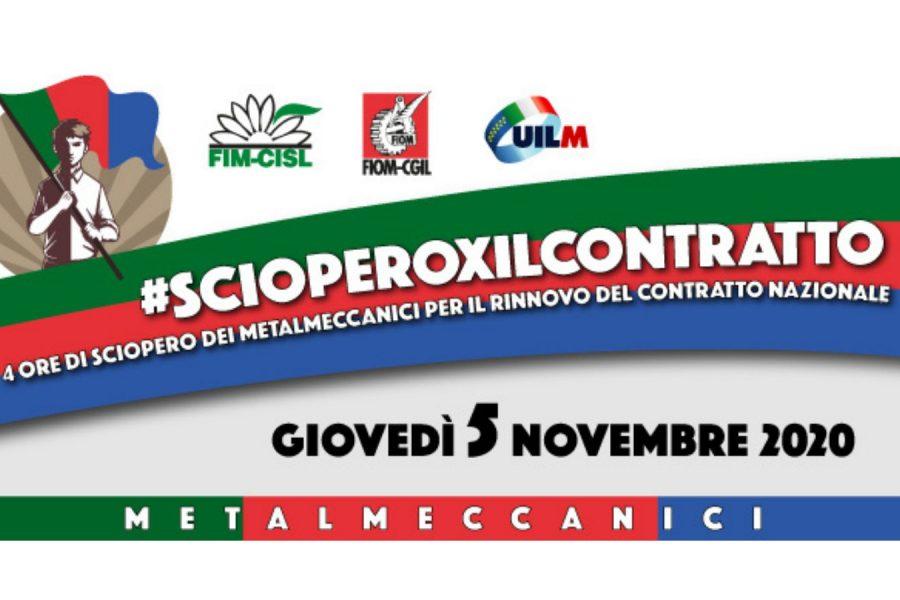#scioperoxilcontratto: giovedì 5 novembre i metalmeccanici in sciopero