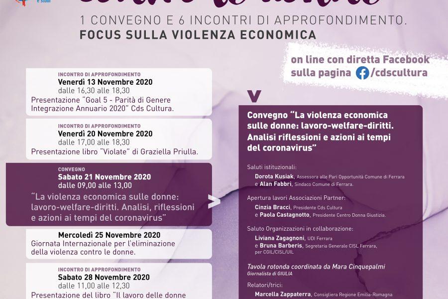 La violenza economica sulle donne: convegno in live streaming sabato 21 novembre ore 9