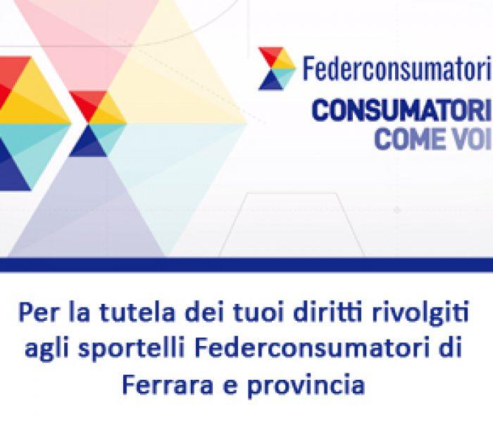 Federconsumatori Ferrara e provincia sedi e orari