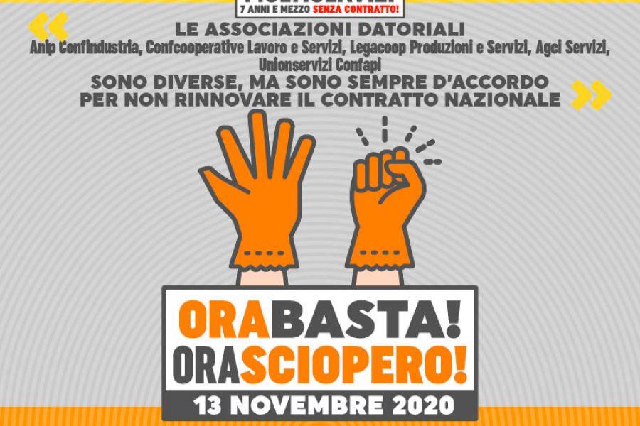 Venerdì 13 novembre sciopero dei lavoratori del settore multiservizi con presidio a Ferrara