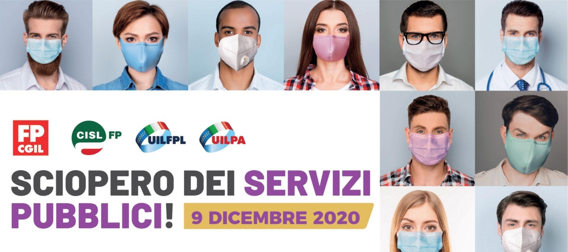 9 dicembre sciopero dei servizi pubblici