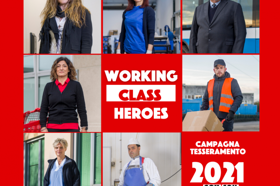 Working class heroes: campagna tesseramento CGIL 2021