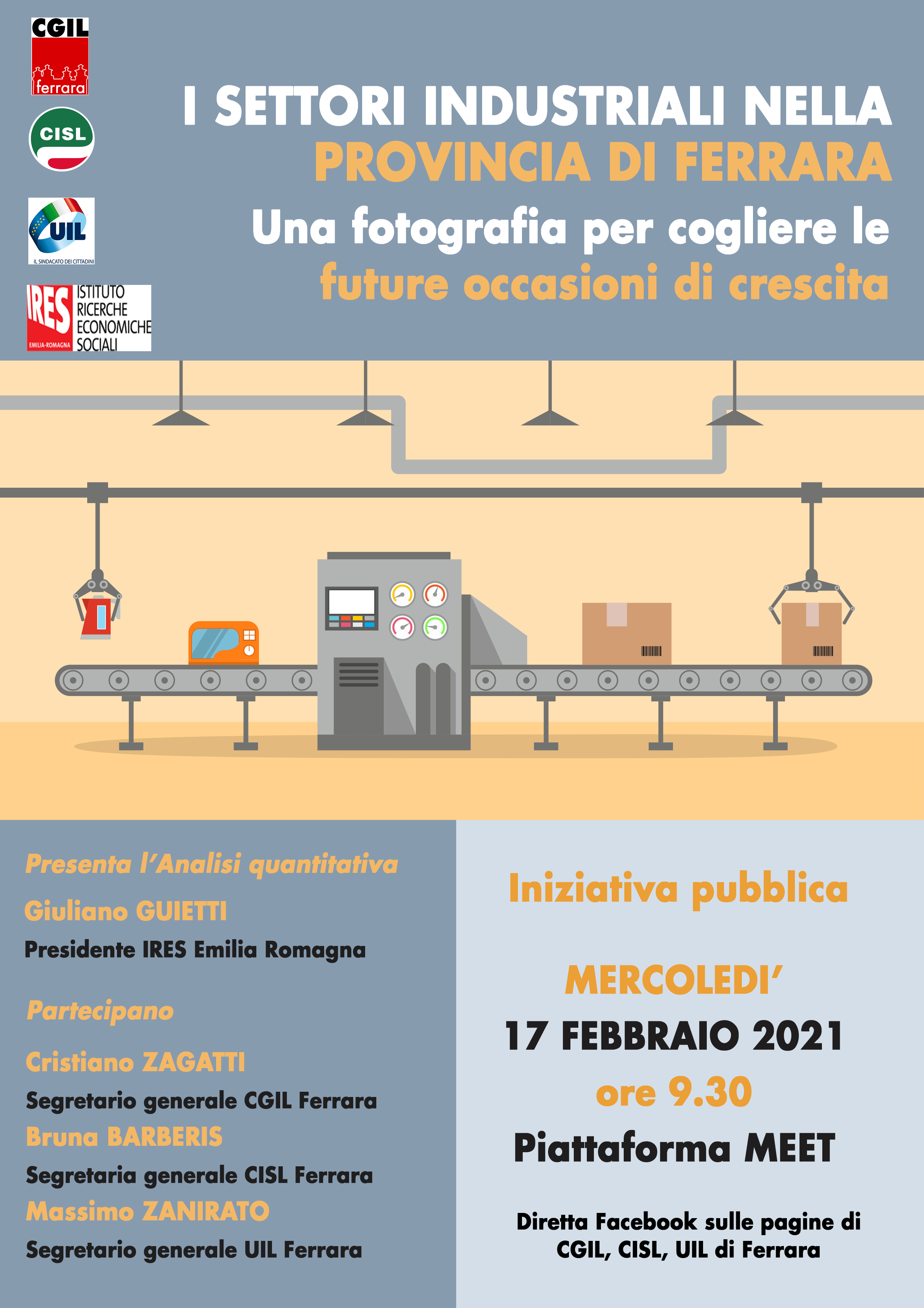 I settori industriali nella provincia di Ferrara. Iniziativa pubblica