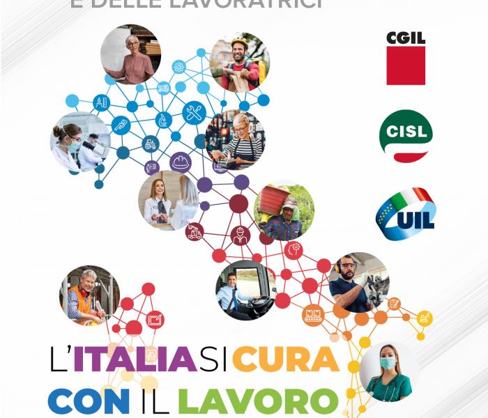 L'Italia si cura con il lavoro. Primo Maggio Cgil Cisl Uil a Ferrara e provincia