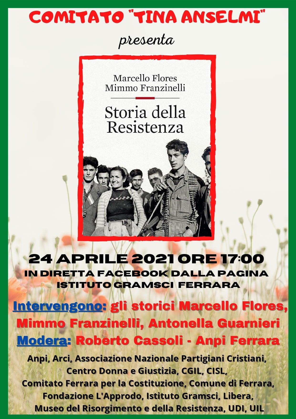 """Presentazione del libro """"Storia della Resistenza"""" sabato 24 aprile"""
