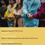 Il diritto globale alla salute. Nuova data giovedì 22 luglio ore 18 Consorzio Factory Grisù Ferrara