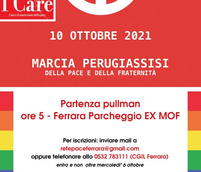 Marcia Perugia Assisi domenica 10 ottobre partenze da Ferrara