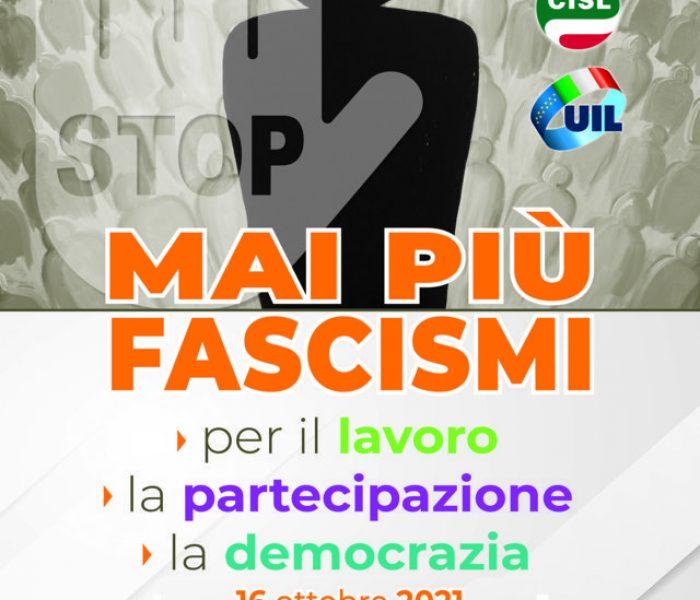 """Manifestazione """"Mai più fascismi"""" sabato 16 ottobre a Roma: partenze pullman da Ferrara"""